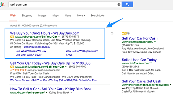 adwords-copy-sell-your-car