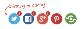 social button text