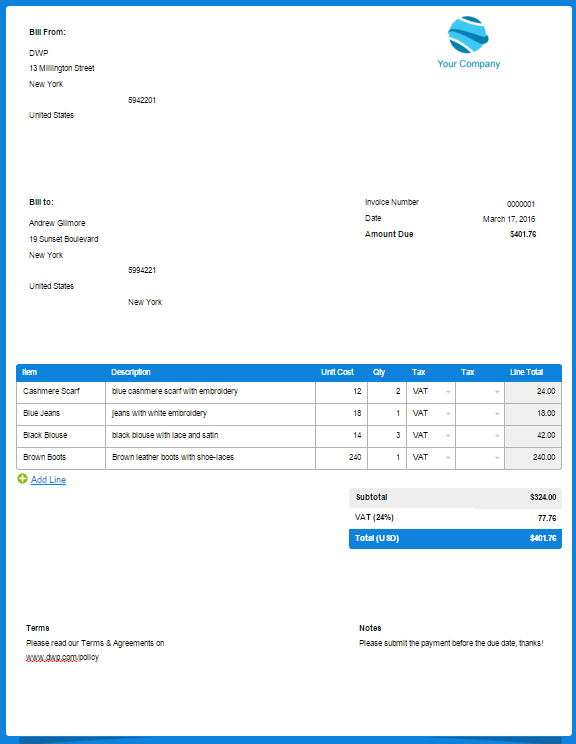 Freshbooks Invoice Templates Operlyingfo