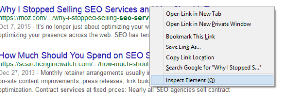 Using the Inspect Element function can delve deeper into changing your search location.