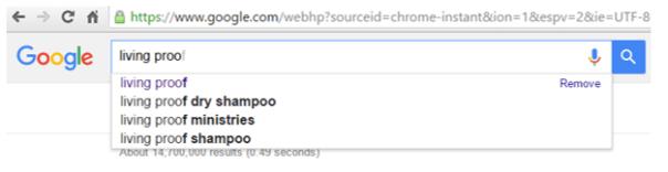 google suggest example