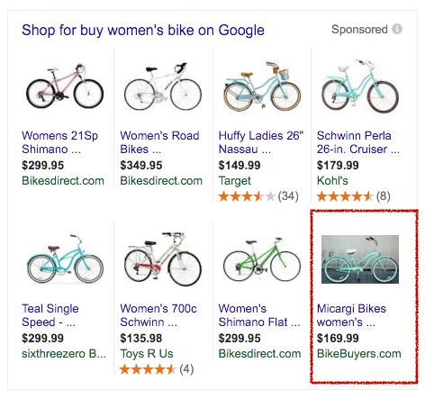 Google Shopping - Bikes