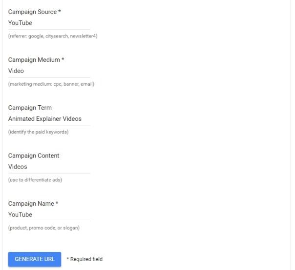 Google Link Builder