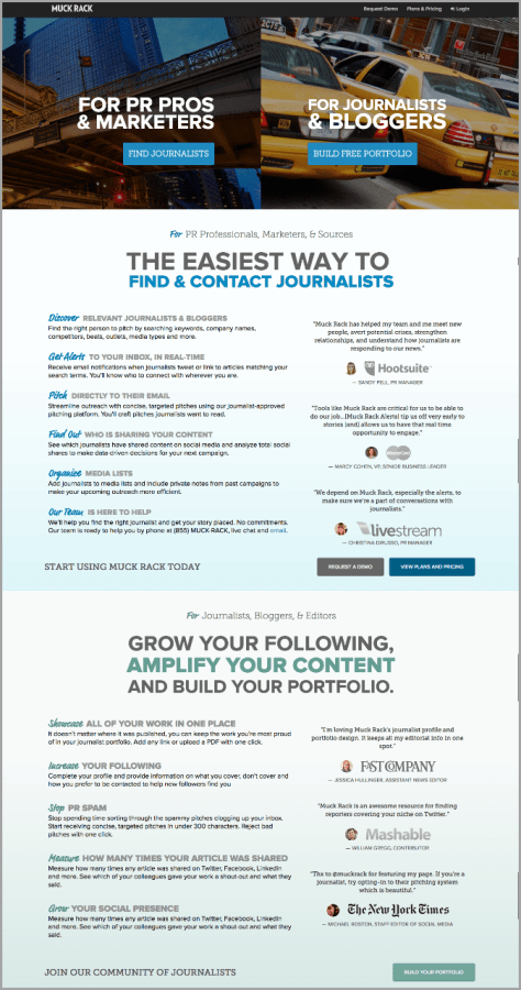 landing pages for data-driven marketing campaigns