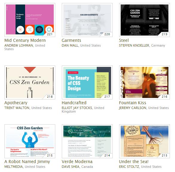 Web design inspiration CSS Zen Garden