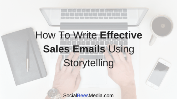 How to write effective sales emails using storytelling