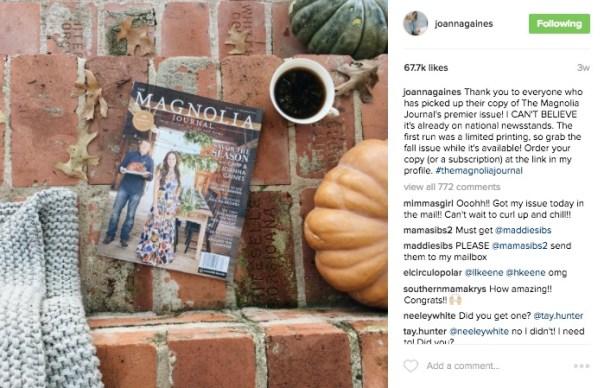 Magnolia Magazine Instagram Link in Bio