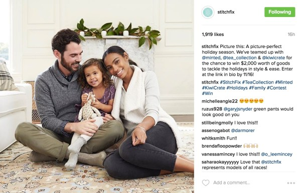 Stitchfix Instagram Seasonal Sweepstakes Promotion with Link in Description