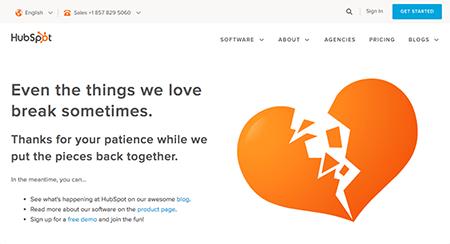 HubSpot Customer 404 error page