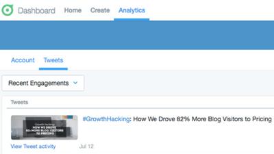 Twitter Dashboard analytics screenshot