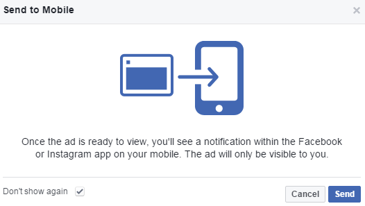 facebook creative hub send mockups to mobile devices