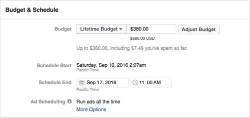 How to compete in Facebook Ads lifetime budget