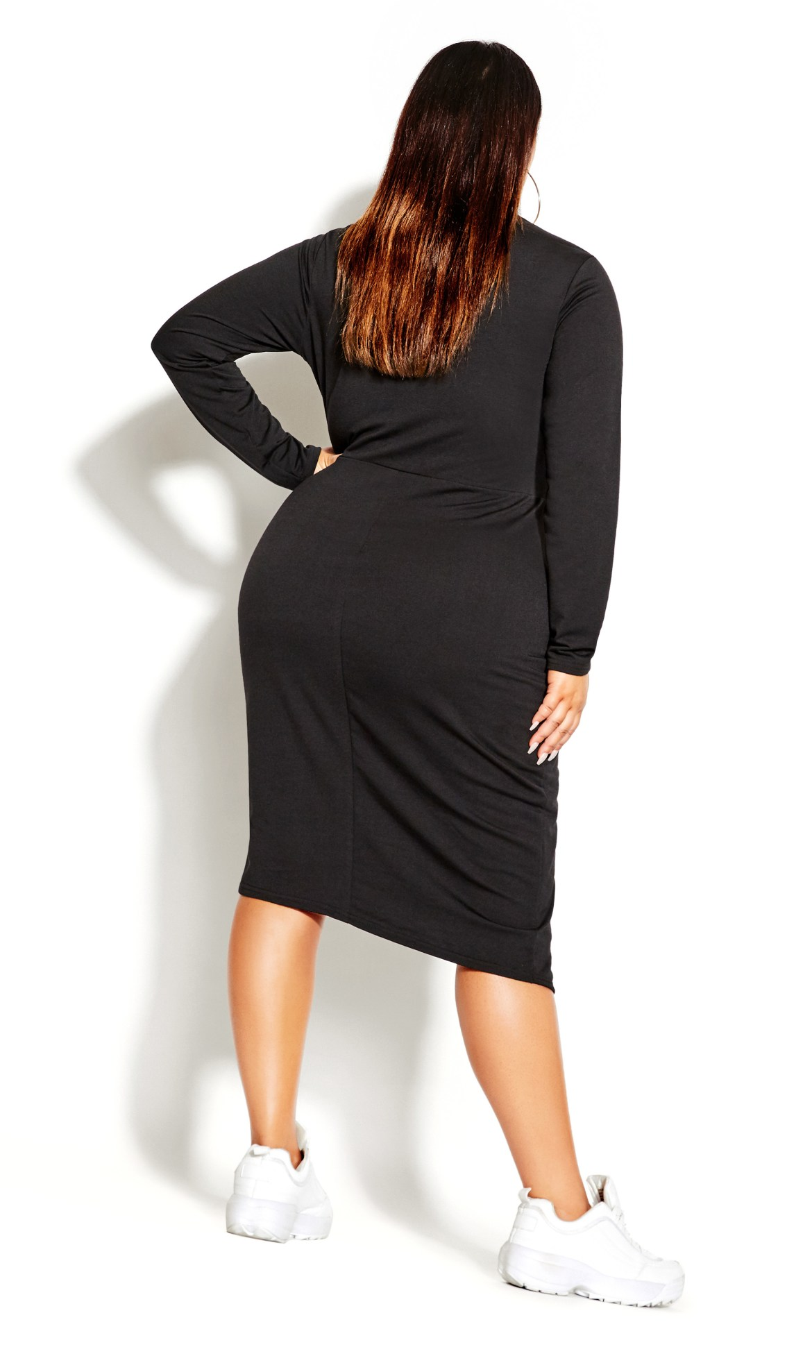 Twist Bodycon Dress - black 9