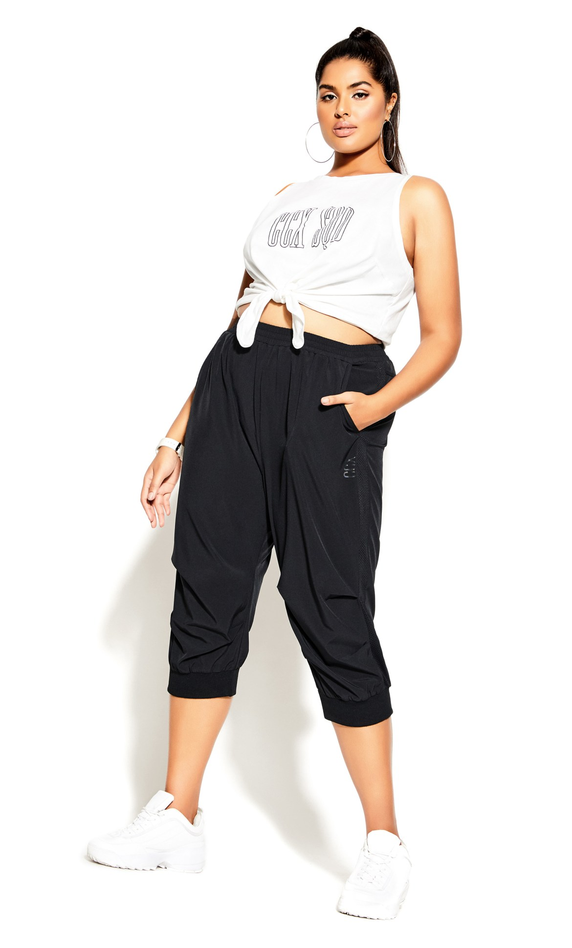 Active Knot Front Top - ivory 5
