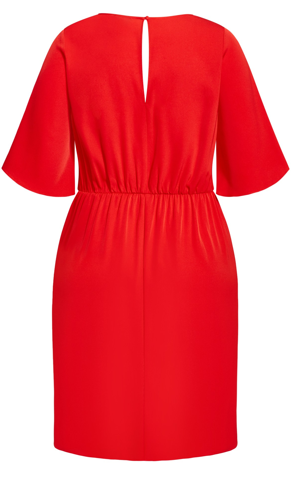 Knot Front Dress - red 6