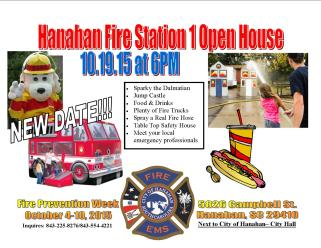 Hanahan Fire Week Open House 2015