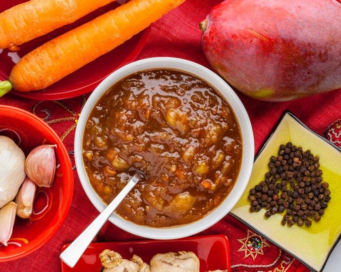 Mango and jalapeño sauce