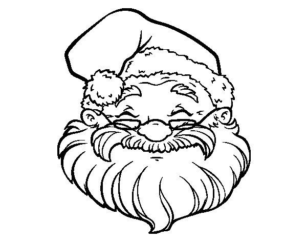 santa claus face coloring page coloringcrew com