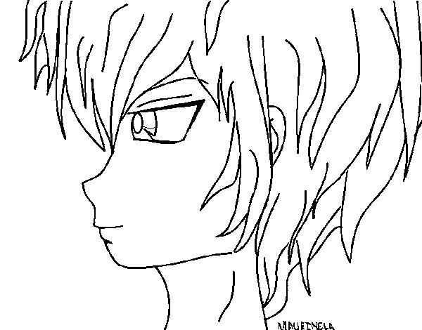 anime boy 2 coloring page coloringcrew com