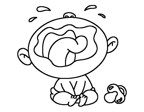 baby crying coloring page coloringcrew com