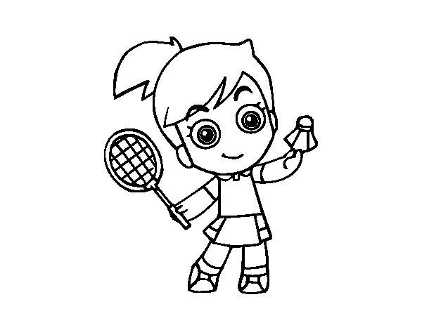 badminton coloring page coloringcrew com