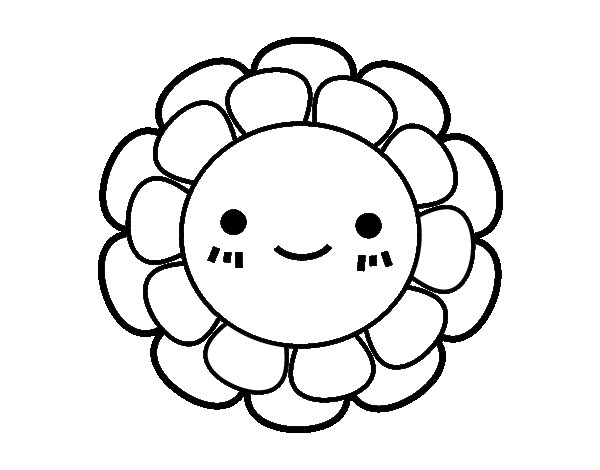 childish small flower coloring page coloringcr