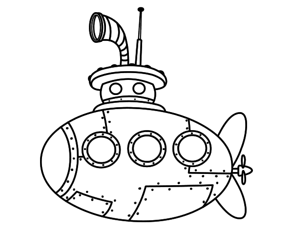 classic submarine coloring page coloringcrew com