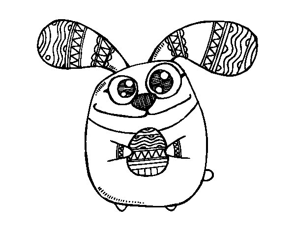 easter bunny with bulging eyes coloring page coloringcrew com