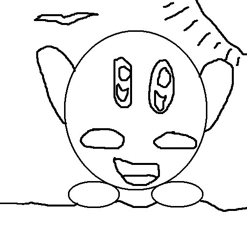 kirby buckets drawings coloring pages kirby coloring page