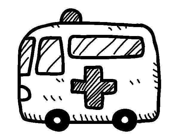 red cross ambulance coloring page coloringcrew com