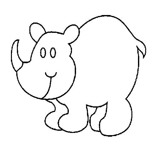 rhinoceros coloring page coloringcrew com