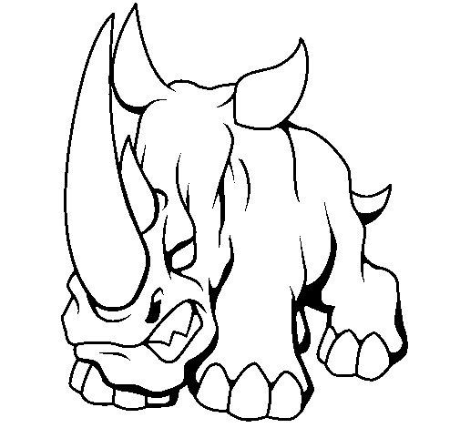 rhinoceros ii coloring page coloringcrew com