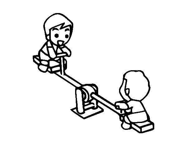 Seesaw Coloring Page