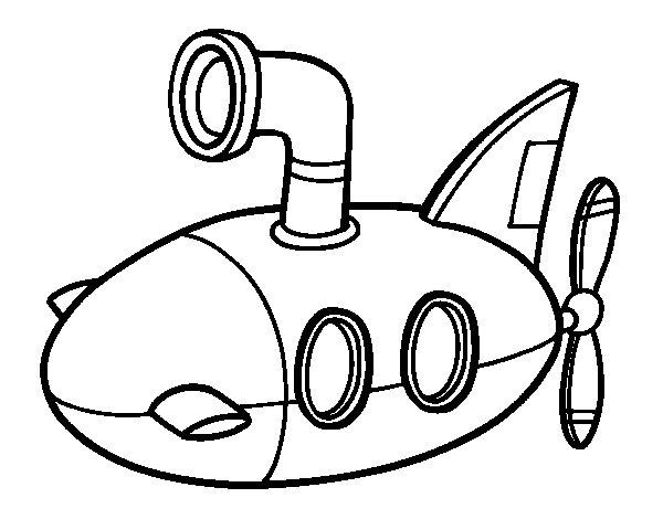 submarine coloring page coloringcrew com