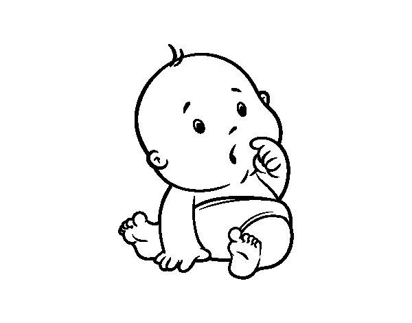 surprised baby coloring page coloringcrew com