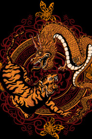 Dragon Tiger Shirts by Design by Humans