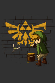 Link & Banksy Shirt. Zelda and the triforce for ever