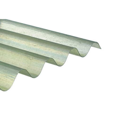 plaque ondulee transparente polyester 1 52 x 1 10 m grandes ondes 177 51 onduclair plr x20