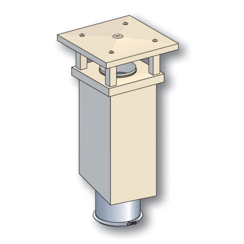 sortie de toit poujoulat tradinov carree tcp crepi ocre conduit inox galva o230 mm