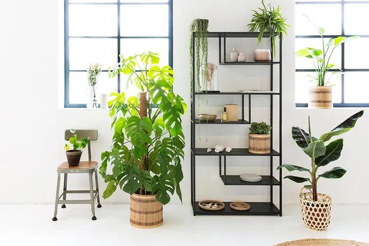 Open wandkast van Lifa Living (kleur: zwart)