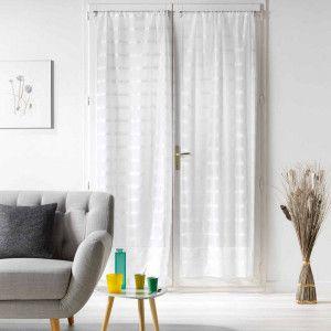 voilages 90 x 120 cm filiane blanc