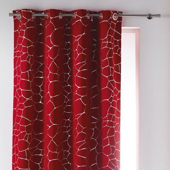 rideau occultant 140 x h260 cm sahel rouge