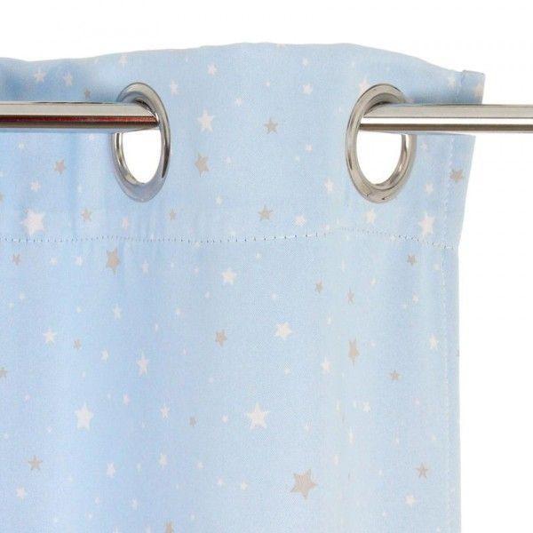rideau occultant 140 x h260 cm nuit d etoiles bleu
