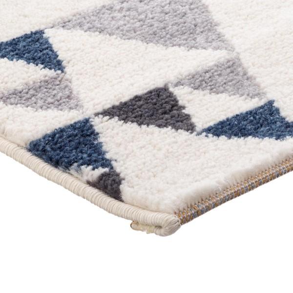 tapis 90 cm ilan bleu fonce