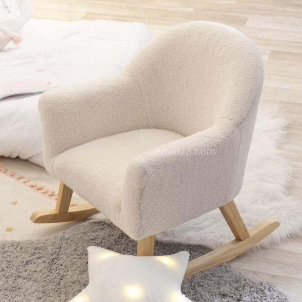 fauteuil a bascule moumoutte blanc
