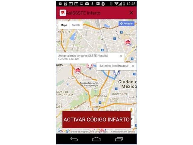 El ISSSTE lanza app para ayudar durante un infarto
