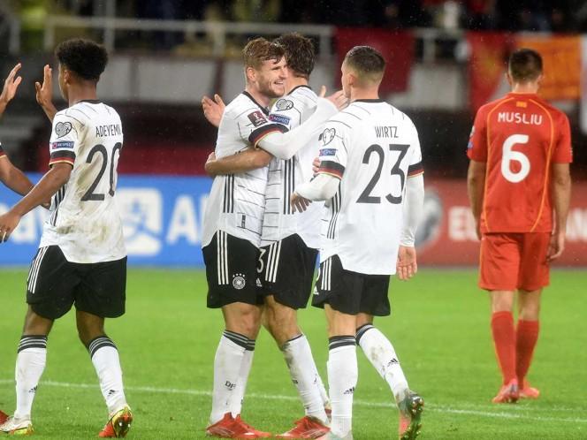 Alemania consiguió su boleto al Mundial de Qatar 2022 con una goleada. (AFP)