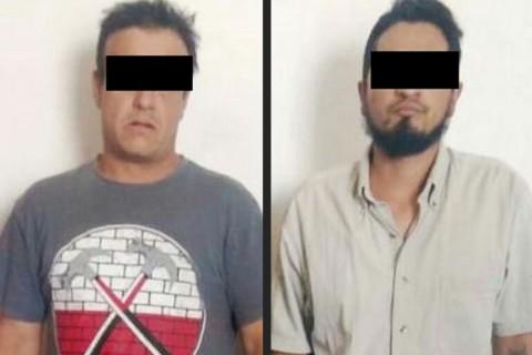 Dos sujetos fueron detenidos;se identificaron por sus iniciales como M.F.H., de 27 años, y L.N.M.B., de 42. Foto: Emmanuel Rincón/ Corresponsal
