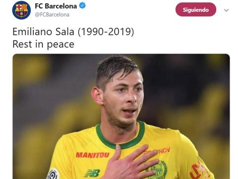 El mundo del futbol se despide de Emiliano Sala