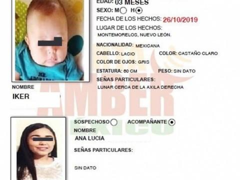 Ficha de búsqueda del bebé Iker y su mamá